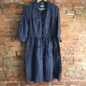 EUC Linen Chambray dress